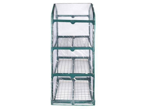 Riverstone Industries GENESIS 3 Tier Portable Rolling Greenhouse with Clear Cover