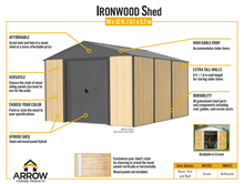 Load image into Gallery viewer, Arrow IWC1012 Ironwood 10x12 Cream