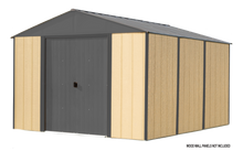 Load image into Gallery viewer, Ironwood Steel Hybrid Shed Kit 10 x 12 ft. Galvanized Anthracite