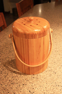Good Ideas Bamboo Kitchen Composter
