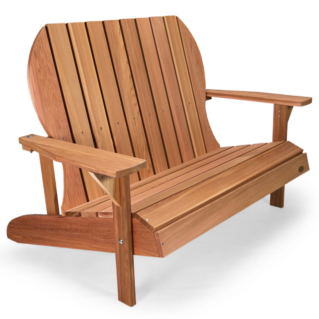 All Things Cedar Adirondack Loveseat