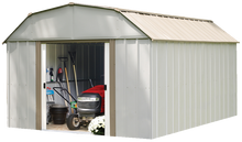 Load image into Gallery viewer, Arrow Lexington 10 x 14 ft. Steel Storage Shed Barn Style Taupe/Eggshell