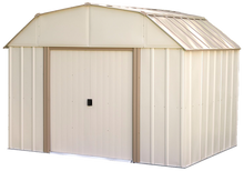 Load image into Gallery viewer, Lexington 10 x 8 ft. Steel Storage Shed Barn Style Taupe/Eggshell