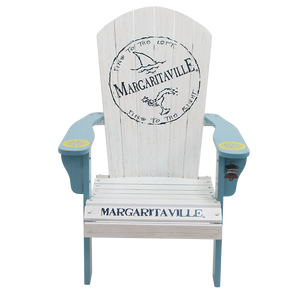 Margaritaville Wood Adirondack Chair, Fins to the Left
