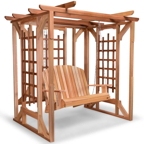 All Things Cedar Pergola And Swing Set