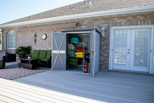 Load image into Gallery viewer, Arrow Spacemaker Patio Shed, 5x3, Flute Grey and Anthracite