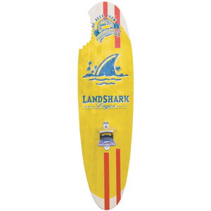 Margaritaville Landshark Bottle Opener Sign with Magnetic Cap Catcher