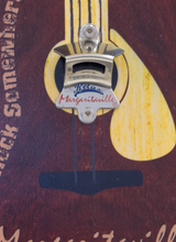 Load image into Gallery viewer, Margaritaville Bottle Opener Sign with Magnetic Cap Catcher - Guitar
