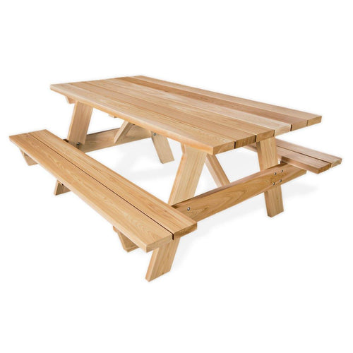 All Things Cedar 6' Picnic Table w/ Attached Bench