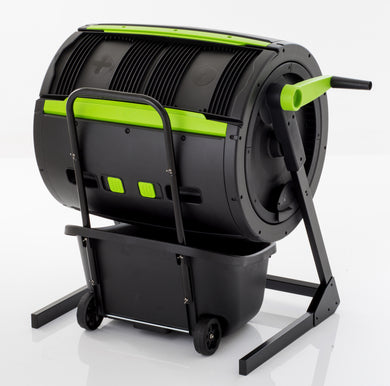 MAZE Two Stage Compost Tumbler With MAZE Composting Cart