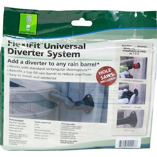 Rain Wizard Diverter Flex Kit Compatible with ANY Rain Barrel