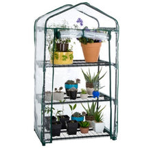 Load image into Gallery viewer, Riverstone Industries GENESIS 3 Tier Portable Rolling Greenhouse with Clear Cover