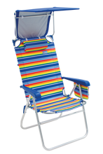 Load image into Gallery viewer, RIO Beach Hi-Boy Beach Chair with Canopy - Stripe