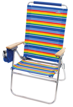 Load image into Gallery viewer, RIO Beach Hi-Boy Tall Back Beach Chair - Stripe