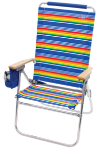 RIO Beach Hi-Boy Tall Back Beach Chair - Stripe