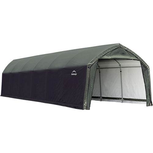 ShelterLogic AccelaFrame™ Garage, 12 ft. x 30 ft. x 9 ft. Standard PE 9 oz.