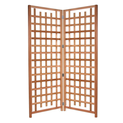 All Things Cedar 2-Panel Trellis Privacy Screen