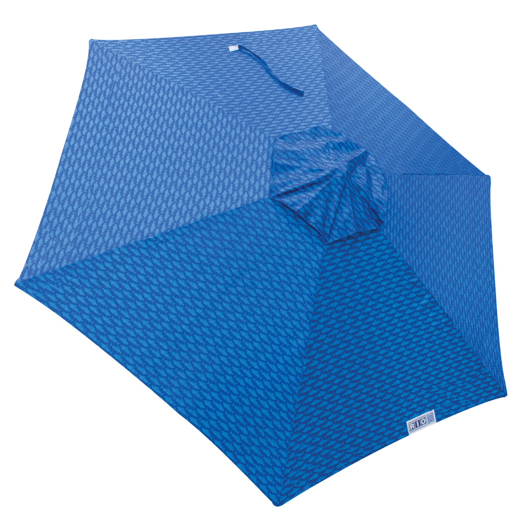 RIO 7' Market Umbrella - Blue Fish