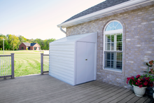 Load image into Gallery viewer, Arrow Yardsaver 4 x 7 ft. Steel Storage Shed Pent Roof Eggshell