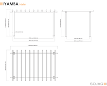 Load image into Gallery viewer, Sojag Yamba Pergola 10x16 ft