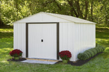 Load image into Gallery viewer, Arlington 10 x 12 ft. Steel Storage Shed Eggshell/Coffee Trim Sheds Arrow