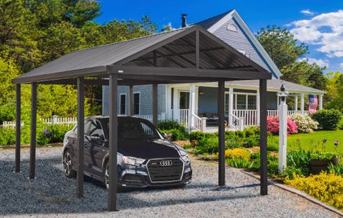 Sojag Samara 12x20 Dark Grey Metal Carport Kit