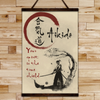 AI027 - Your Spirit Is The True Shield - Aikido Canvas With The Wood Frame