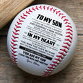 (BB11) BAB011 - Mom To Son - In My Heart - Baseball Ball