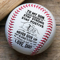 (BB13) BAB013 - Dad To Son - Never Give Up - Baseball Ball