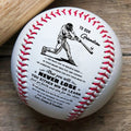 (BB15) BAB014 - Grandpa & Grandma To Grandson - Never Lose - Baseball Ball