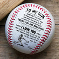 (BB36) BAB037 - Dad To Son - Loving You And Breathing - Baseball  Ball