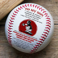 (BB56) BAB51 - Dad To Son - Wherever Your Journey - Baseball Ball