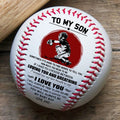 (BB59) - BAB054 - Dad To Son - Loving You And Breathing - Baseball Ball