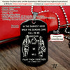 Engrave FFD004 - Call On Me Brother - English - Black - Firefighter Dog Tag