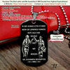 Engrave FFD005 - Call On Me Brother - German - Black - Firefighter Dog Tag