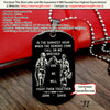 Engrave FFD010 - Call On Me Brother - English - Black Firefighter Dog Tag