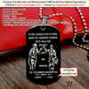 Engrave FFD011 - Call On Me Brother - German - Black Firefighter Dog Tag