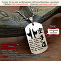 Engrave KAD009 - It's Not About Being Better - Karate Dogtag