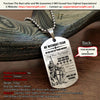 Engrave KTD004 - Be Without Fear - English - Knight Templar Dogtag