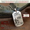 Engrave KTD005 - Be Without Fear - German - Knight Templar Dogtag