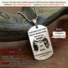 Engrave KTD010 - Call On Me Brother - German - Knight Templar Dogtag