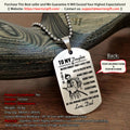 Engrave SAD007 - Dad To Daughter - Never Forget That I Love You - Samurai Dog Tag