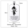 Engrave SAD030 - IF - Show No Mercy - Samurai Dog Tag