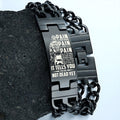 Engrave SDB008 - PAIN - You Are Not Dead Yet - Soldier Bracelet