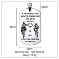 Engrave SDD013 - Call On Me Brother - English - Soldier Dog Tag