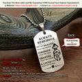 Engrave WAD040 - Always Remember - Warrior Dog Tag