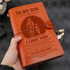 FFN003 (JD35) - Dad To Son - Your Way Back Home - Vintage Journal - Firefighter Notebook