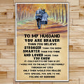 FM032 - To My Husband - You Are My Sunshine - Family Poster