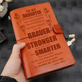 FMN037 (JD82) - Dad To Daughter - Braver Stronger Smarter - Vintage Journal - Family Notebook