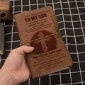 KTN014 (JT119) - Dad To Son - That You Will Never Lose - Vintage Journal - Cross Notebook
